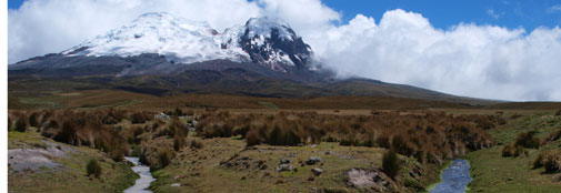 Antisana-mountain in The Andes